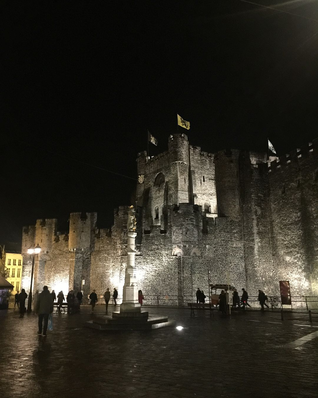 Ghent Castle at night